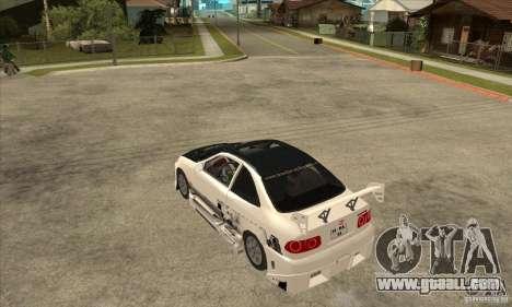 Honda Civic Tuning Tunable for GTA San Andreas back view