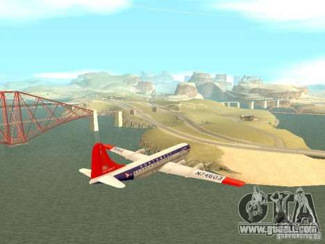 Boeing 377 Stratocruiser for GTA San Andreas left view