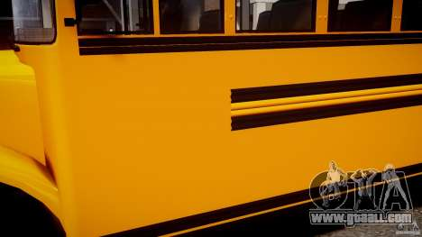 School Bus [Beta] for GTA 4 back view