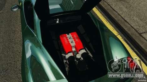 Ferrari 458 Italia 2010 for GTA 4 inner view
