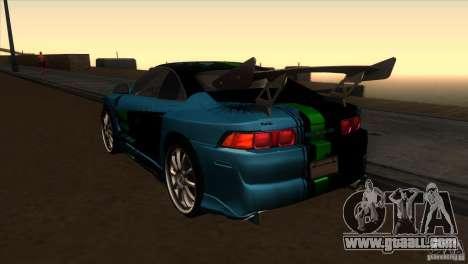 Toyota MR2 Drift for GTA San Andreas back left view