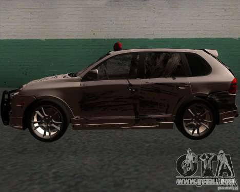 Porsche Cayenne Turbo S for GTA San Andreas bottom view