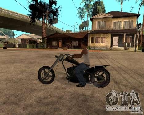 Diabolus Bike for GTA San Andreas back left view