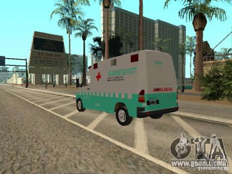 Mercedes Benz Sprinter SAME for GTA San Andreas left view