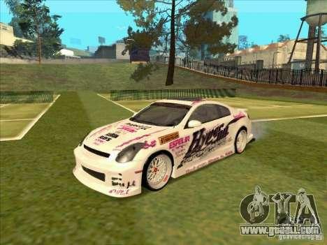 Infiniti G35 Top Secret for GTA San Andreas