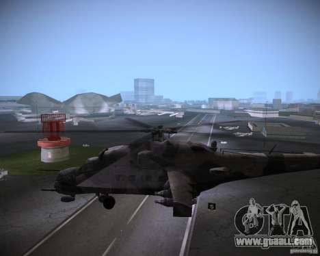 Mi-35 for GTA Vice City back view