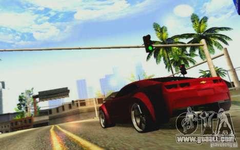 Chevrolet Camaro Tuning for GTA San Andreas inner view