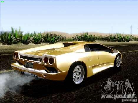 Lamborghini Diablo VT 1995 V3.0 for GTA San Andreas right view