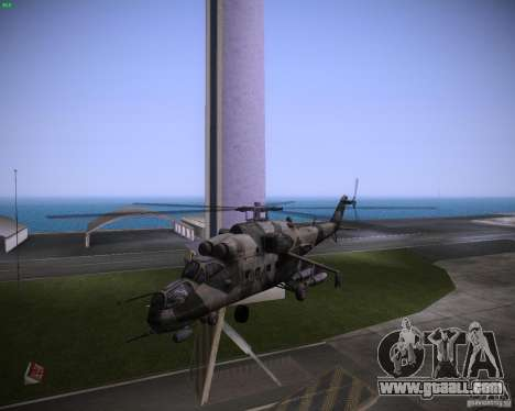 Mi-35 for GTA Vice City left view