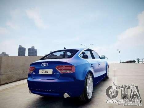 Audi A5 Sportback for GTA 4 left view