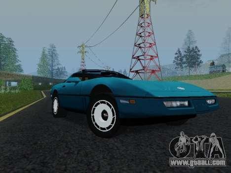 Chevrolet Corvette C4 1984 for GTA San Andreas left view