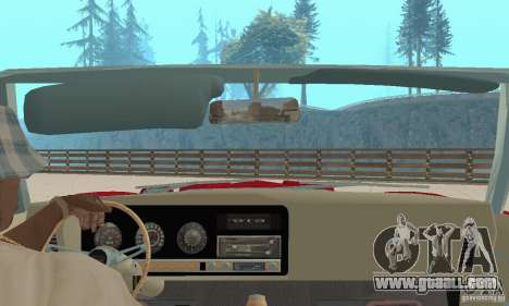 Pontiac GTO The Judge Cabriolet for GTA San Andreas inner view