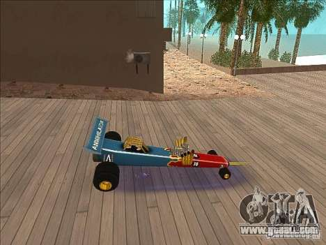 Dragg car for GTA San Andreas left view