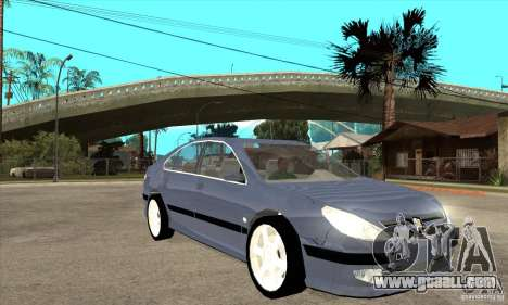Peugeot 607 for GTA San Andreas back view