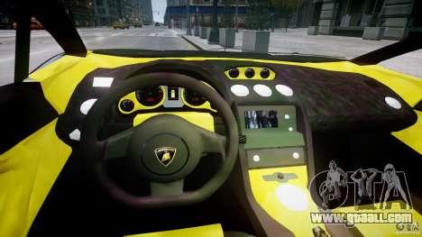 Lamborghini Gallardo for GTA 4 back view