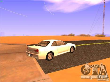 Nissan Skyline R34 Tunable for GTA San Andreas right view