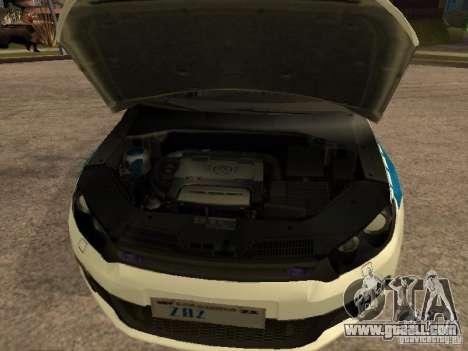 Volkswagen Scirocco German Police for GTA San Andreas right view