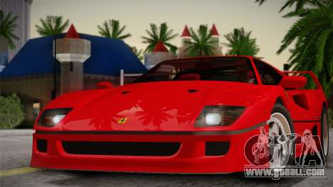 Ferrari F40 1987 for GTA San Andreas side view