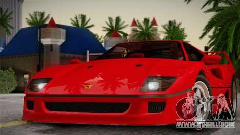 Ferrari F40 1987 for GTA San Andreas side view