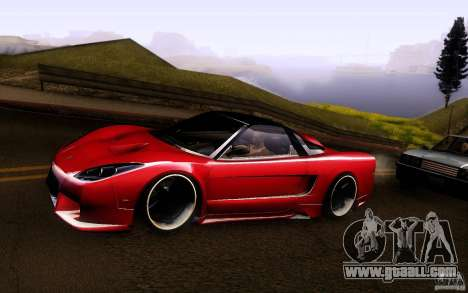 Honda NSX VielSide Cincity Edition for GTA San Andreas back left view