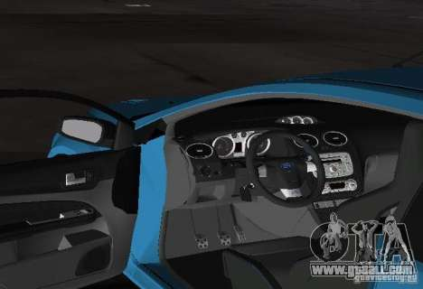 Ford Focus RS 2009 for GTA Vice City back view