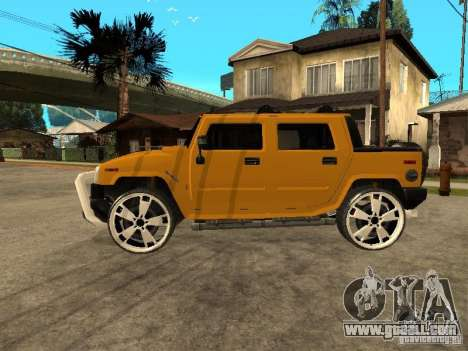 Hummer H2 4x4 diesel for GTA San Andreas back left view