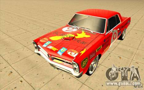 Pontiac GTO 1965 NFS Pro Street with new vinyls for GTA San Andreas right view