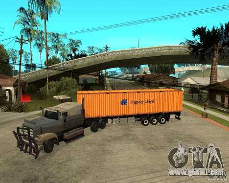 Krone Trailer Hapag-LLoyd for GTA San Andreas left view