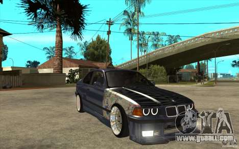 BMW E36 M3 Street Drift Edition for GTA San Andreas back view