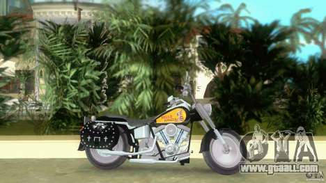 Harley Davidson FLSTF (Fat Boy) for GTA Vice City left view