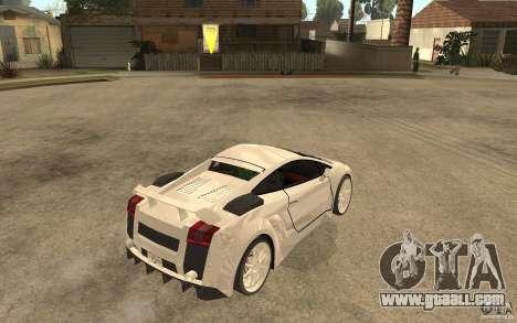 Lamborghini Gallardo MW for GTA San Andreas right view