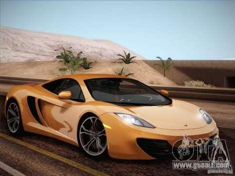 McLaren MP4-12C BETA for GTA San Andreas upper view