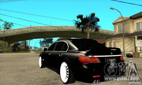 BMW 7-er F02 HAMANN 2010 for GTA San Andreas back left view