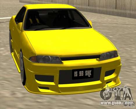 Nissan Skyline R32 Bee R for GTA San Andreas back view