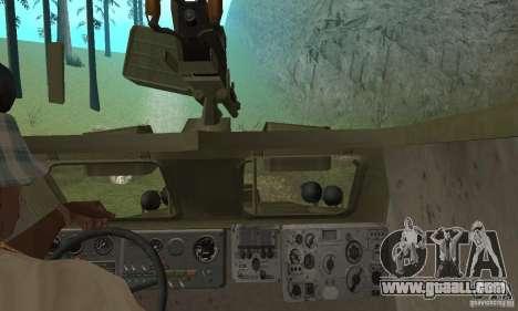 BRDM-1 Skin 3 for GTA San Andreas inner view