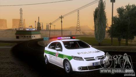 Volkswagen Voyage Policija for GTA San Andreas back left view