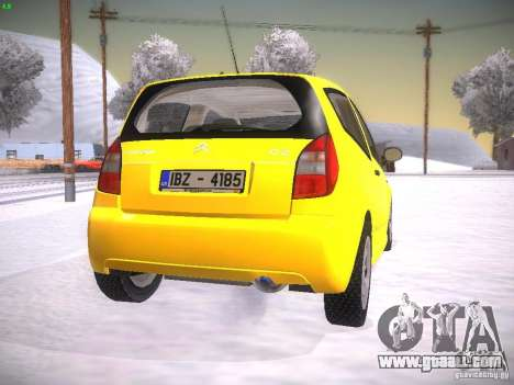 Citroen C2 for GTA San Andreas back left view