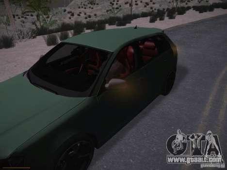 Audi RS3 2011 for GTA San Andreas interior
