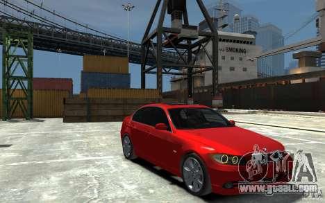 BMW 330i E90 for GTA 4 back view