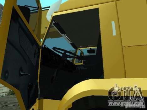 KAMAZ 65117 Ivanovets for GTA San Andreas inner view