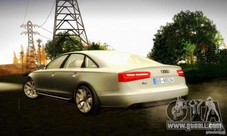 Audi A6 2012 for GTA San Andreas left view