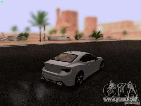 Toyota 86 TRDPerformanceLine 2012 for GTA San Andreas back left view