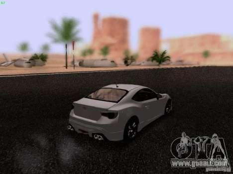 Toyota 86 TRDPerformanceLine 2012 for GTA San Andreas back left view