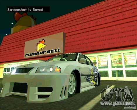 Nissan Sentra for GTA San Andreas right view