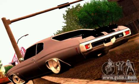 Chevrolet Chevelle 1970 for GTA San Andreas engine
