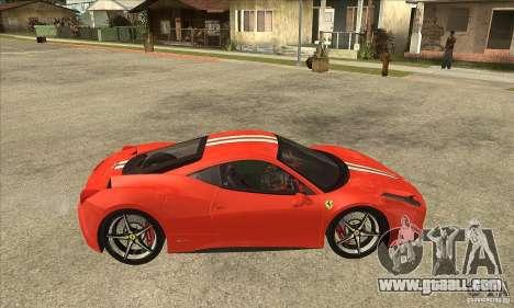 Ferrari 458 Italia 2010 v2.0 for GTA San Andreas back view