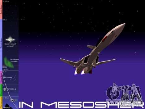 Flight in the mesosphere for GTA San Andreas