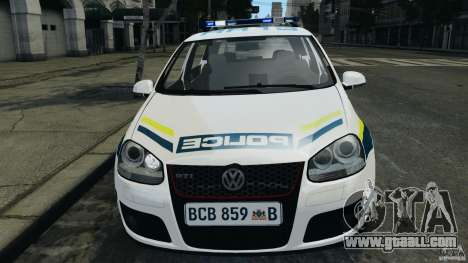 Volkswagen Golf 5 GTI South African Police [ELS] for GTA 4 side view