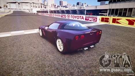 Chevrolet Corvette C6 Z06 for GTA 4 side view