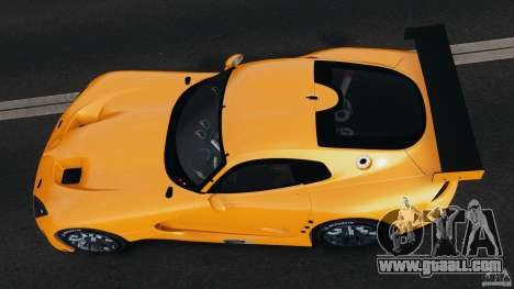 SRT Viper GTS-R 2012 v1.0 for GTA 4 back view